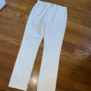 Levi's re/done white high rise denim jeans size 30